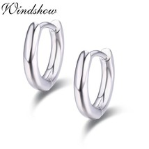 Cute 925 Sterling Silver Cylinder Circles Small Loop Huggie Hoop Earring... - $15.10