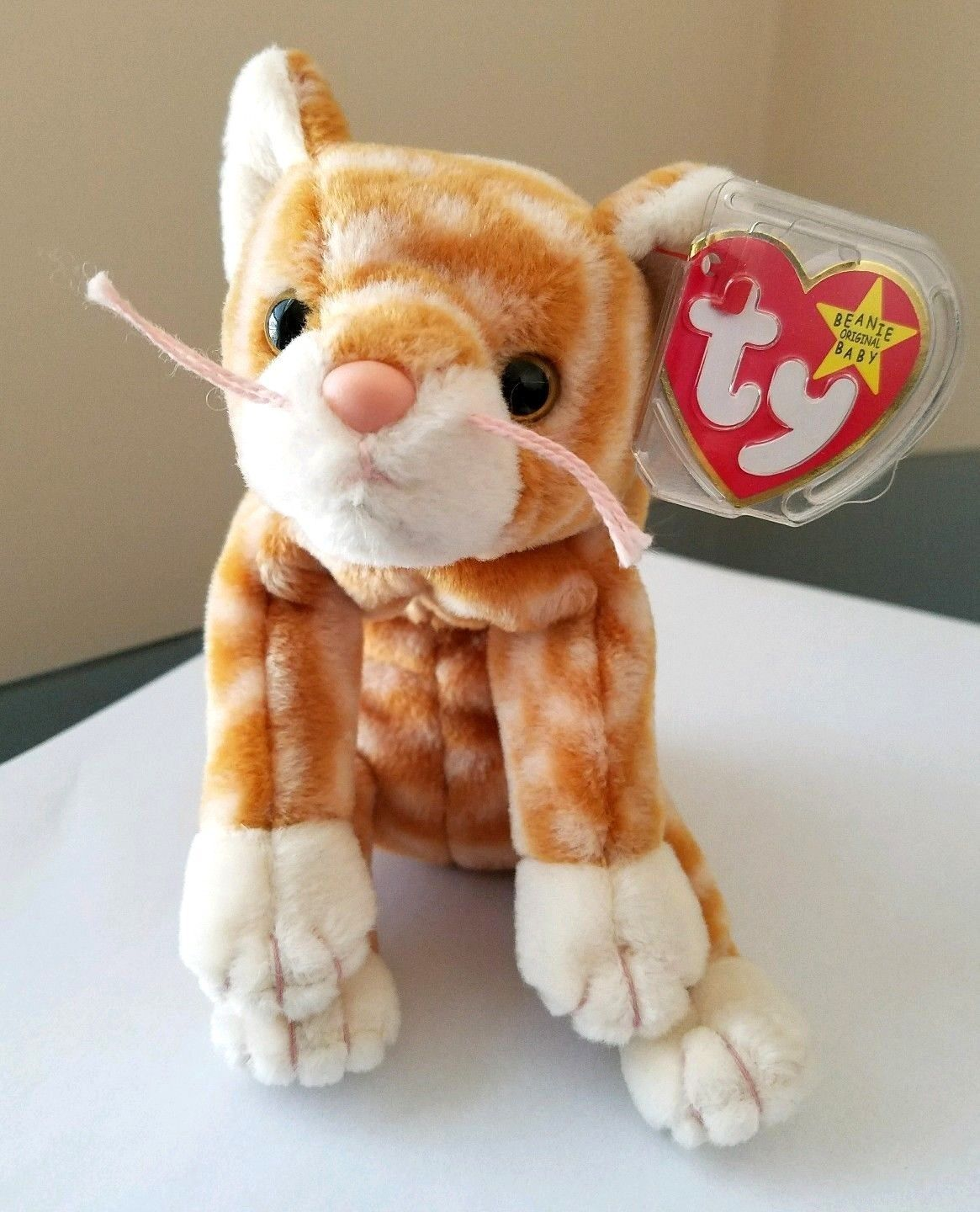 Lot Of 3 Ty Beanie Babies Cats Amber 49990d0e82ad
