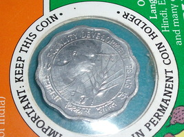 1975  10 PAISA coin from India in Permanent Coin Holder - $40.00