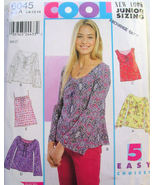 Womens Jr's Top Shirt 5 Patterns Size A  3 - 13  New  - $4.99