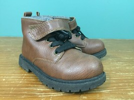Carter's Boy's Toddler Boots - Size 9 - Brown, Gray Lining - $13.99