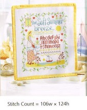 THE SOFT SUMMER BREEZE  -  CROSS STITCH PATTERN   GU - VEE - $7.38