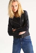 Women's Leather Motorcycle 100% Biker Jacket Real Genuine Soft Lambskin -104