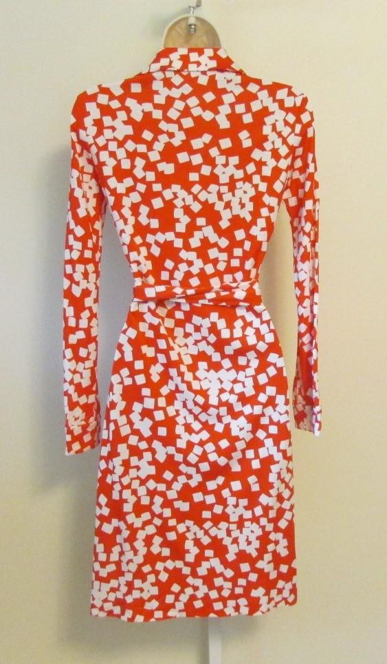 DIANE von FURSTENBERG New Jeanne Wrap Dress Confetti print US 10 - UK 14