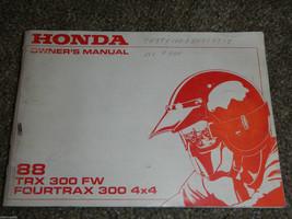 1988 88 Honda TRX300FW Trx 300 Fw Fourtrax 4x4 Owner Owners Owner's Manual - $18.67