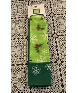 Brand New Time Tru Green Christmas Holiday Snowflakes Holly Bandana  22 ... - $6.49