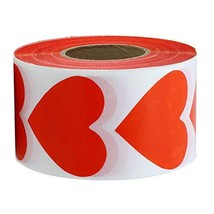 Red Heart Stickers Valentine's Day Crafting Scrapbooking Labels Heart Sh... - $14.68