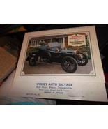 Original 1980 Iffrig's Auto Salvage Calendar of Collector Cars - $12.00