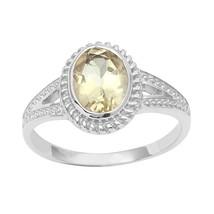 Classic Lemon Quartz Gemstone 925 Sterling Silver Women Ring Sz 7 SHRI0837 - €11,87 EUR