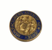 Vintage New Jersey Manufacturers Association Screw Back Pin - $12.82