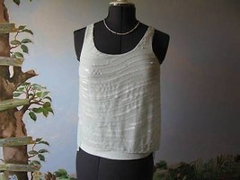 Express Pastel Green sequin Top Blouse Cami Size XS Sleeveless  - $28.95