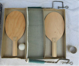 Vintage Table Tennis Game Never Played J. Pressman 1950's  image 4