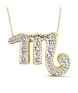 White Diamond Accent Scorpio Zodiac 14k Gold Over Silver Pendant - $62.53
