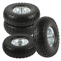 "go2buy 4-Pack 10"" Solid Rubber Tyre Wheels Garden Wagon Cart Trolley Tir... - $74.78"