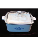 Corning Ware Blue Cornflower Pyroceram Oblong Casserole Glass Cookware  - $29.99