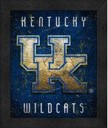 """Kentucky Wildcats """"Retro College Logo Map"""" 13x16 Framed Print  - $39.95"""