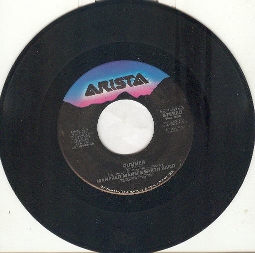 "Manfred Mann's Earth Band 45 rpm ""Runner"""