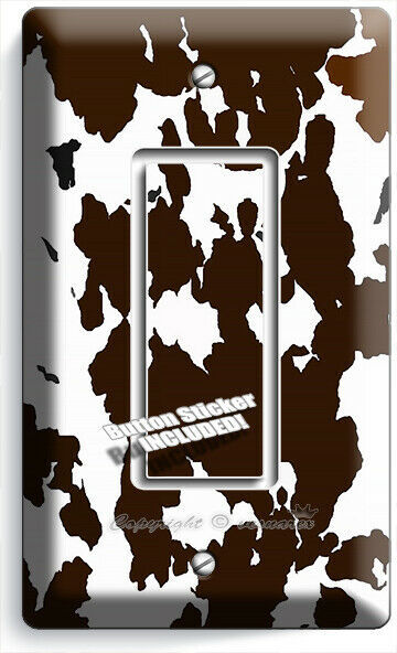 COW HIDE SKIN PRINT 1 GFCI LIGHT SWITCH WALL PLATE COUNTRY STYLE ROOM HOME DECOR
