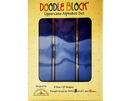 Sizzix Alphabars Doodle Block Uppercase Alphabet Set Dies #38-0982