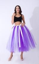 Women Puffy Tutu Skirt Drawstring High Waist Long Tulle Skirt Petticoat One Size image 6