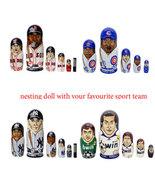 "Custom nesting doll MLB NHL NFL ncaa nba Nesting Doll Any sport Team 6"" - $69.90"