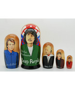 Deep Purple matryoshka Russia doll Nesting dolls babushka dolls set of 5, 6""