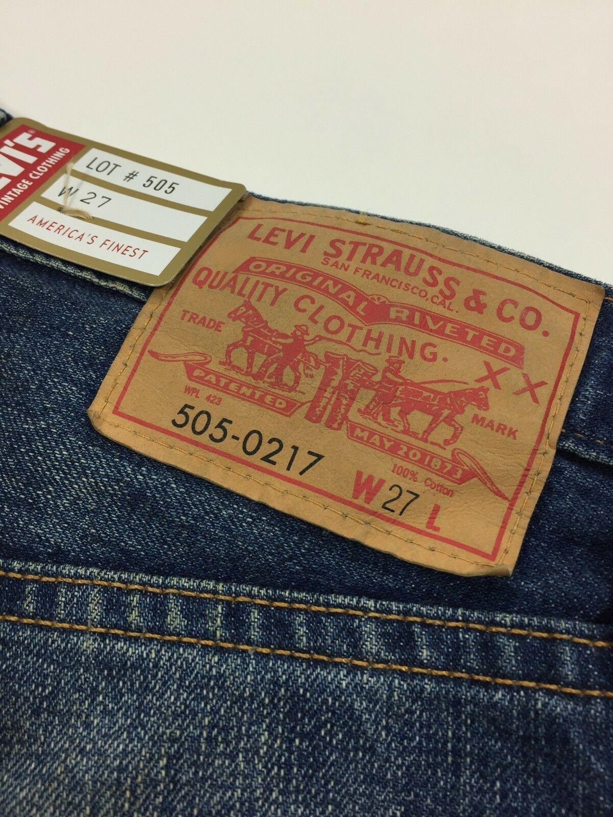 Levi's Vintage Clothing LVC 1967 505 Selvedge Denim Shorts Size 27 Waist Women