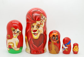 Exclusive 5pcs Handpainted King Lion matryoshka doll, nesting doll, bab... - $54.90