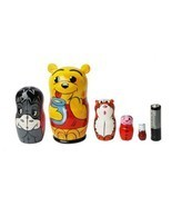 Russian Nesting Doll of Winnie the Pooh matryoshka 5pc, babushka, 3.6 in... - $34.90