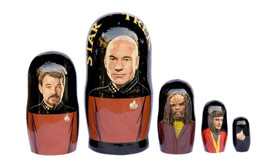 "Star Trek2 Nesting Dolls 5pc matryoshka doll babushka 6"" - $54.90"