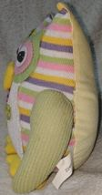 GANZ 96M7432 Multi Colored Polyester 10 Inch Tall Striped Owl image 3