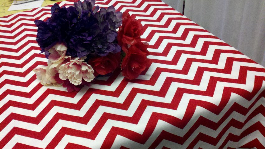 "54x96 CUSTOM COLORS Chevron tablecloth 54X96"" rectangle Zigzag choose your color"