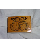 PSX Scrapbooking Wood Stamp Mounted Teddy Bears Dated 1983 Never Used - $5.00