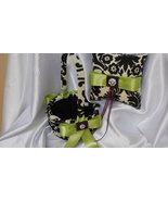 DAMASK BASKET, PILLOW Ringbearer Ring Pillow and Flower Girl Basket Wave... - $55.95