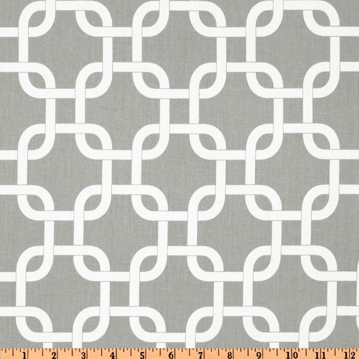 """MODERN TABLECLOTH 54X84"""" White on Grey Gray Cage Chain Print Tablecloth for rect"""