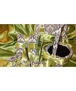 Damask Ring Bearer Pillow and Flower Girl Basket ,Guest Book, Pen, Garte... - $128.95