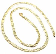 Cadena Oro Amarillo 18K 750 , 50 cm, Cadenilla Plana y Placas la Marcada... - $709.95