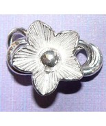 Thai Karen Hill Tribe Bright Silver Flower Small Apple Blossom Clasp #ZT... - $8.16