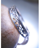 Haunted ring FREEBIE RISING ABOVE THE MIST Spell STERLING SCROLL Magick Cassia4 - Freebie