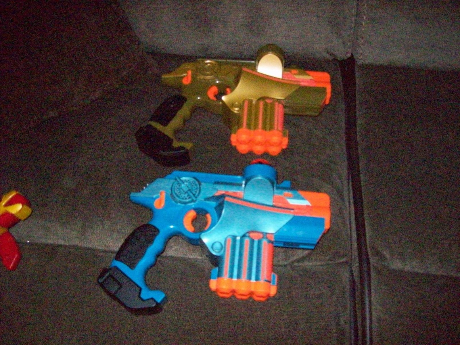 2 TIGER LAZER TAG GUNS PHOENIX LTX Blue And Gold
