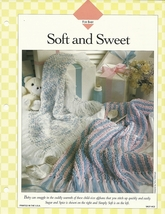 Soft And Sweet Baby Infant Afghan Crochet Pattern Leaflet VACF-HC2 - $4.99