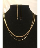 """Ambassador Thin Chain Bracelet and Necklace - Gold Plated - 7"""" and 18"""" Long - $9.90"""