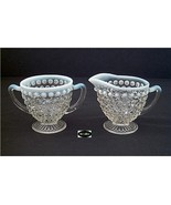 Moonstone Opalescent Creamer And Sugar Hocking - $12.95