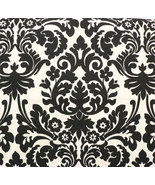 DAMASK AISLE RUNNER Waverly Onyx Black and  Ivory Indoor Outdoor  Weddin... - $159.00