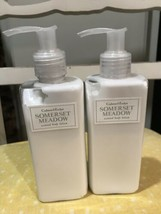 NEW CRABTREE & EVELYN  SOMERSET MEADOW SCENTED BODY LOTION LOT OF (2) BO... - $34.99