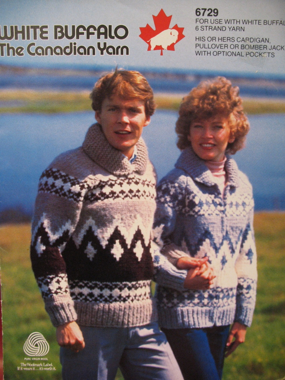 White Buffalo Cowichan Sweater Pullover Knitting Pattern
