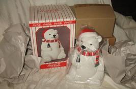 Vintage 1996 Coca Cola Bear Cookie Jar NIB - $149.95