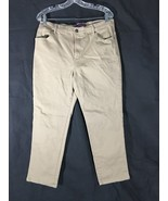 Women's Beige Jeans Gloria Vanderbilt Amanda Missy Size 14 Short - $11.87