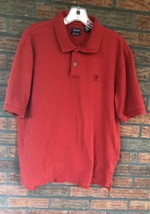 Red Izod Polo XL Short Sleeve 100% Cotton Rugby Shirt 2 Button Collar Ho... - $9.90