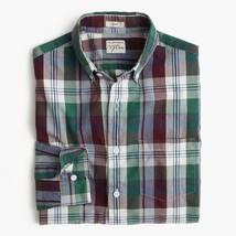 NWT J.Crew Men's Slim Secret Wash shirt in indigo plaid end-on-end cotton size S - $46.75
